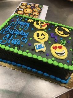 Emoji sheet cake