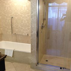 Bathroom in the King Suite at the Parmelia Hilton in Perth Australia Hotels, Hotel Reviews, Western Australia, Corner Bathtub, Perth, King, Bathroom, Washroom, Corner Tub