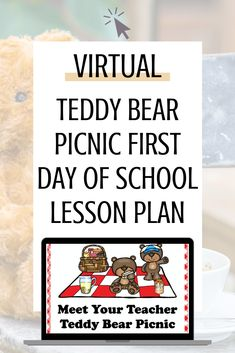 Are you looking for a fun and engaging lesson to complete with your students for the first day of school during distance learning? Read all about my virtual teddy bear picnic lesson for meeting the teacher and having our first online lesson of the school year. Autism Teaching, Autism Classroom, Special Education Classroom, Teaching Kindergarten, Meet The Teacher, Your Teacher, New School Year, First Day Of School, Online Lessons