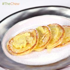Carla Hall's Silver Dollar Ricotta #Pancakes with Lemon Oil! #TheChew