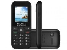 Celular Alcatel One Touch OT1050 Dual Chip - Câmera Integrada Viva-Voz Rádio FM Desbl. Oi