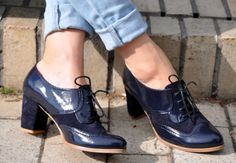 Fulham - Oxford Pumps, Womens Oxfords, Handmade Leather Shoes, Heeled Oxfords, Chic Shoes, Custom Shoes, FREE shipping & customization.