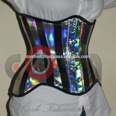 Holographic PVC Underbust Steel boned Curvy Regular Short Extended Corset, View holographic corset, coshintl.com Product Details from COSH INTERNATIONAL on Alibaba.com
