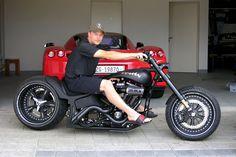 Kimi on his personal Iceman Bike