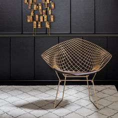 Well-known pieces of mid-century furniture by Platner, Bertoia and Jacobsen are being reproduced as gold versions thanks to metal-coating technology