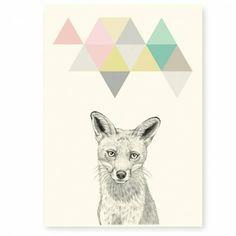 Affiche A4 renard