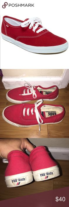 Red pro Keds athletic shoes Red pro keds athletic shoes. Size 8. Good condition. Keds Shoes Athletic Shoes