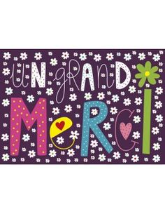 "Carte d'Art ""Un Grand Merci"""