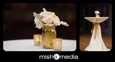 chicago history museum wedding   catherine and eddie, gold mason jar wedding decor, soft pink and gold themed wedding