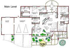 RANCH- Warm, Efficient Passive-Solar Home Plan