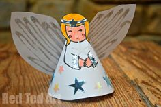Simple Paper Angel Printable (make this using a paper plate?!)
