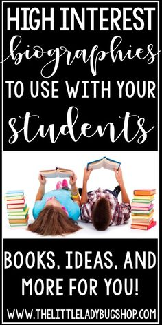 Favorite Biographies for Kids in Upper Elementary: To teach research and informational writing, I love using high interest biographies and autobiographies with my students.