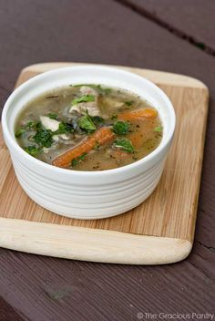 Clean Eating Leftover Rotisserie Chicken Soup - will be good for the hot summer days to not have to use the oven