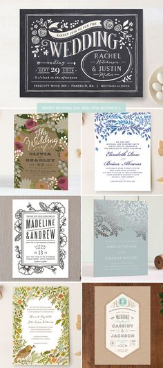 Minted 2014 Wedding Invitations : Beautiful Botanicals as seen on invitationcrush.com