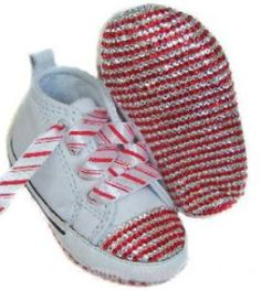Bling Candy Cane Baby Converse Crib Shoes Bling Baby Shoes, Baby Bling, Baby Girl Shoes, Baby Boy Outfits, Girls Shoes, Baby Converse, Bedazzled Converse, Converse Shoes, Baby Boy Crochet Blanket
