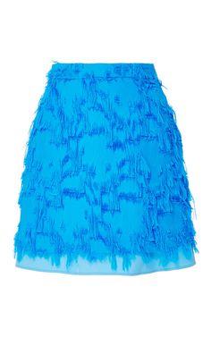 Fringe Mini Skirt by CARVEN for Preorder on Moda Operandi