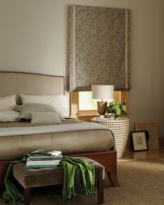 Design Studio™ Roman Shades are about more than a pretty bedroom. ♦ Hunter Douglas Window Treatments