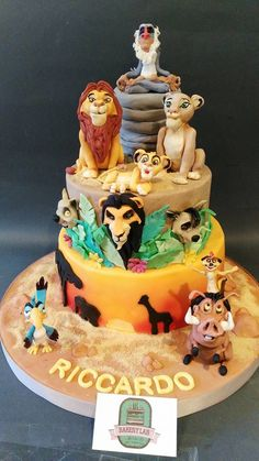 Lion King Theme Party Cakes Musical Birthday Le Roi Safari Jungle Cake