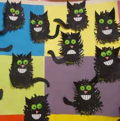 Risultati immagini per maternelle chat bricolage Chat Halloween, Fall Halloween, Halloween Crafts, Halloween Ideas, Kindergarten Art, Preschool, Splat Le Chat, Childrens Artwork, 3rd Grade Art