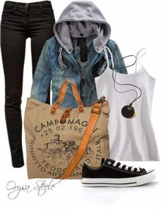 Casual Fall Outfit With Sneakers and Skinny Jeans
