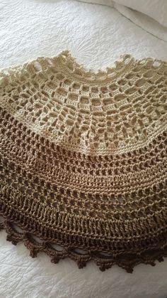 Poncho crochet D'Martina