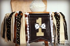 MR. ONEDERFUL Black and Gold Birthday High by RawEdgeSewingCo