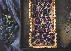 Concord Grape + Walnut Frangipane Tart with a Gluten-Free Rosemary Crust