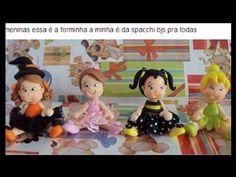 bonequinha em biscuit feita com o molde mini pet Passo a passo da querida  Leina Mara Vieira Mara passa aqui para assistir.