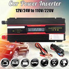 Car Inverter 12V 220V 6000W Peak solar Power //Price: $62.16 & FREE Shipping // #glam #skirt #girly