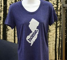 New Jersey Home. Tshirt Womens Cut by HomeStateApparel on Etsy, $21.95 - small