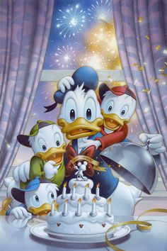 Donald's Surprise - by Tsuneo Sanda<br>giclee on canvas