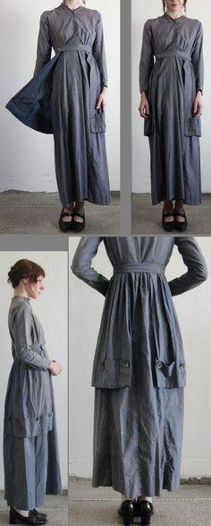 Antique 1800s Handmade Cotton Pioneer Prairie Dress. via Etsy. https://www.etsy.com/listing/73845734/antique-1800s-handmade-cotton-pioneer