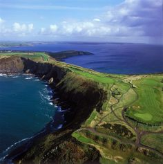The Old Head of Kinsale golf course in Kinsale, Co. Cork | re-pinned by http://www.countryclubsinflorida.com
