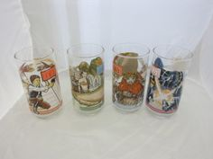 With the new Star Wars movie coming out it's the perfect time to highlight this complete set of vintage Burger King Return of the Jedi Glasses. See Princess Leia as Jabba the Hutt's Prisoner, Luke and Han Solo fighting their way off of Jabba's Sail Barge, experience the final battle between Darth Vader and Luke Skywalker and party with the Ewoks once again. It's hard to believe that these glasses are over 30 years old. It does show the staying power that some collectables have, especially…