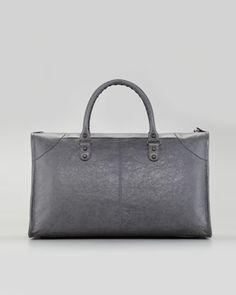 Classic Work Bag, Gris Tarmac - Neiman Marcus