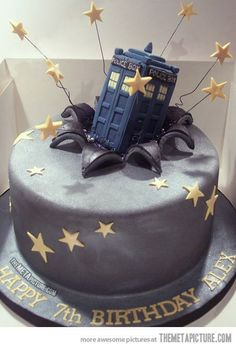 Dr Who Tardis Cake…The bday cake to end all bday cakes!