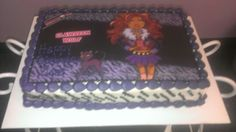 Monster High Buttercream Cake