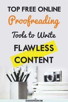 With this post, you will know why proofreading is important and websites that you can use to write error free and great contents. Blog Writing, Writing Skills, Writing A Book, Writing Tips, Online Work From Home, Work From Home Jobs, Self Employed Jobs, Top Websites, Story Planning