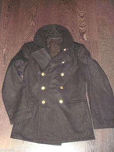 Rus Soviet Navy pea coat. 100% cloth. Original. Size 46-48 European (36-38US)