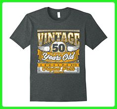 Mens Funny 50th Birthday Gag Gift Vintage Saying 50 Years T Shirt XL Dark Heather - Birthday shirts (*Amazon Partner-Link)