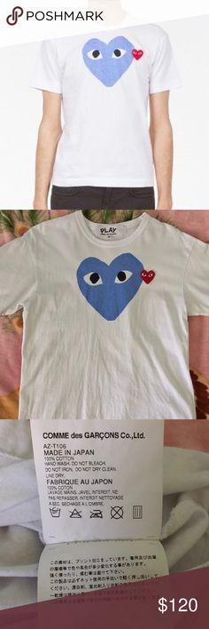 2f96114c5b69f Comme des Garçons Big Heart Little Heart T-Shirt Purchased from APB in  Jacksonville FL