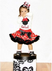 Miss Minnie Mouse Pettiskirt Outfit - pink taffy designs