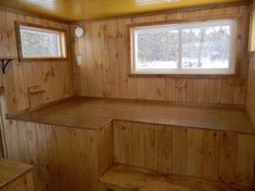 This is a park model RV designed and built like a train caboose which of course can be used as a 'large' tiny house on wheels. Normally park models are about 400 sq. ft. with extra loft…
