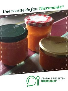 Apricot and Vanilla jam by elorevasco. A fan recipe to find in the category Desserts & Sweets on www.espace-recett …, from Thermomix®. Pudding, Sweets, Recipes, Food, Nutrition, Vanilla, Grout, Gummi Candy, Essen