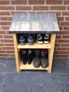 Outdoor shoe storage!