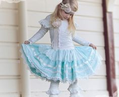 Star Struck Skirt and Lace Cardy