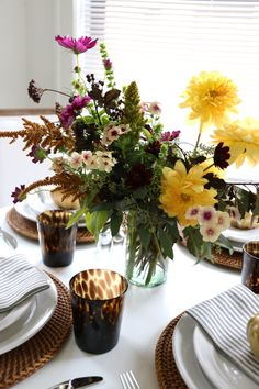 My Thanksgiving table with @potterybarn | The Neo-Trad