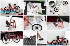 Как сделать велосипед из мастики? МК?