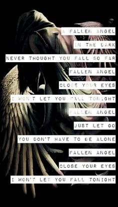 Three Days Grace - Fallen Angel. This song just doesn't ever get old, it's one of their best and my fave<3