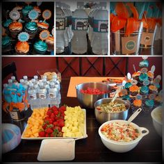 Boy baby shower. Simple but great